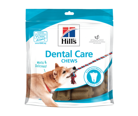 Hills canine dental care chews dog treats productshot 500