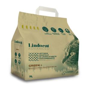 LINDOCAT LETTIERA AGGLOMERANTE VEGETALE GREEN+ IN LEGNO D'ABETE GATTO 7 LT