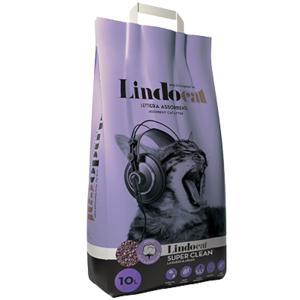 LINDOCAT LETTIERA ASSORBENTE SUPER CLEAN LAVANDA GATTO 10 LT