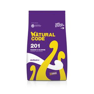 NATURAL CODE SECCO 201 FAGIANO E SALMONE STERILSED GATTO 1,5 KG