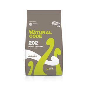 NATURAL CODE SECCO 202 QUAGLIA E TACCHINO STERILSED GATTO 1,5 KG