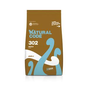 NATURAL CODE SECCO 302 MAIALE ADULTO GATTO 1,5 KG