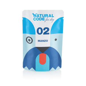 NATURAL CODE UMIDO CANE PUOCH P02 MANZO 100 GR