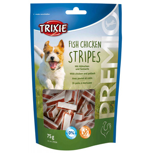TRIXIE SNACK PREMIO FISH CHICKEN STRIPES POLLO E MERLUZZO 75 GR