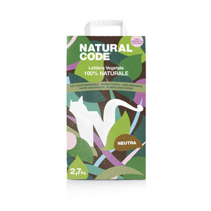 NATURAL CODE LETTIERA VEGETALE AGGLOMERANTE MAIS NEUTRA 2,7 KG