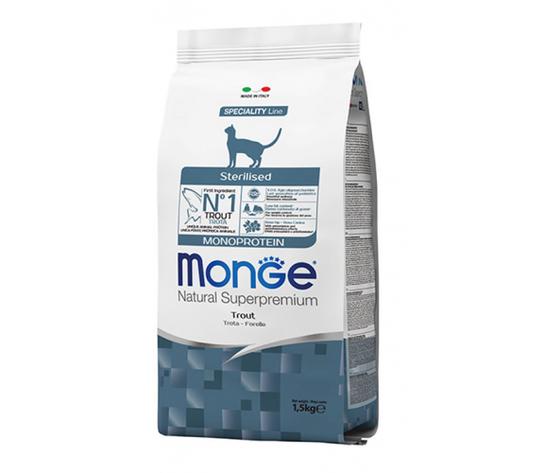 Monge gatto secco sterilised monoprotein trota 270x500