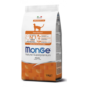 MONGE GATTO STERILISED MONOPROTEICO ANATRA 1,5 KG
