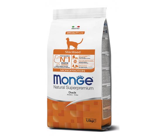 Monge gatto secco sterilised monoprotein anatra 270x500