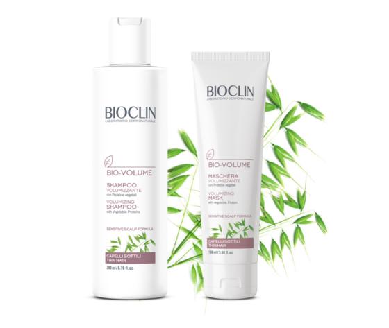 Bioclin linea tricologica bio volume prodotti volumizzante capelli