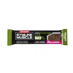 Enervit Gymline Muscle High Protein Bar 50% Low Sugar Gusto Brownie