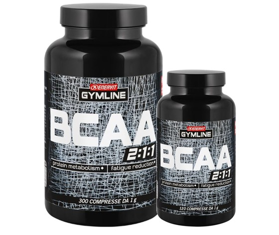 Enervit gymline muscle bcaa amminoacidi ramificati 300 compresse120 omaggio