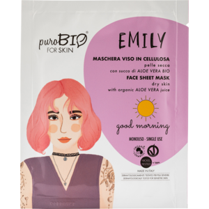 PuroBIO Emily Maschera Viso in Cellulosa Good Morning n 13