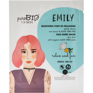 PuroBIO Emily Maschera Viso in Cellulosa Relax and Fun n 15