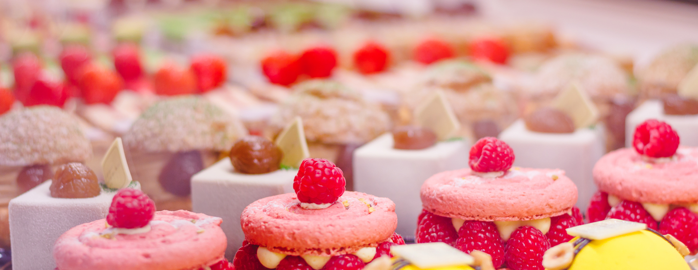 Beautiful delicious pastries with raspberry on a s 4burpgv