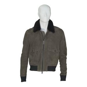 Giubbino Uomo Pelle 100%Lamb Leather colore fango  - MODELLO Jordan