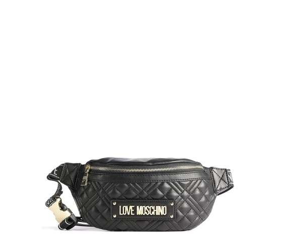 Love moschino new shiny quilted marsupio nero jc4003pp1cla0 000 31