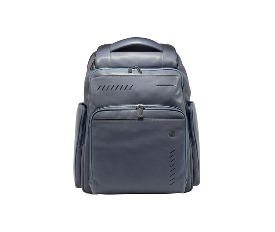 Leather backpack piquadro ca5340s110blu color navy blue