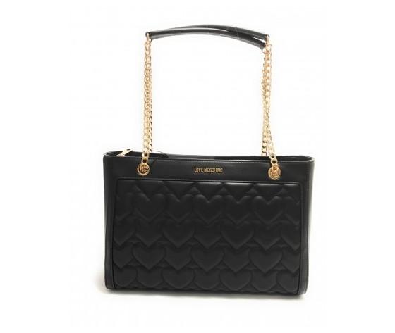 Borsa donna love moschino shopping ecopelle trapuntata nero bs21mo61 jc4251