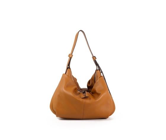 Gianni chiarini woman leather shoulder bag erica tan