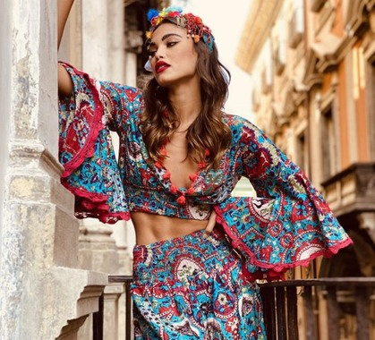 Antica sartoria positano completo donna colore turchese as174 1
