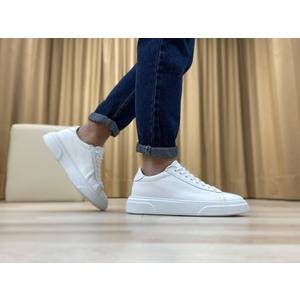 Sneakers in vera pelle col. Bianco