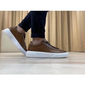 Sneakers in vera pelle col. Cuoio