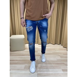 Jeans con Rotture col. Blu Denim