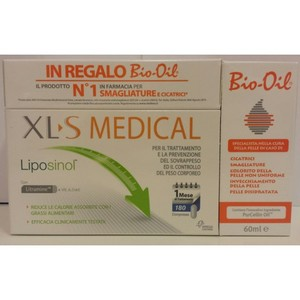 xls medical liposinol + bio oil 60ml OMAGGIO