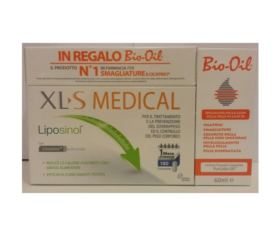 xls medical liposinol + bio oil 60ml OMAGGIO