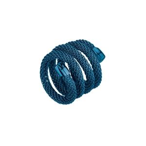 """Anello donna in acciaio ip blu – 20 cm. – Breil Collezione """"New Snake"""""""