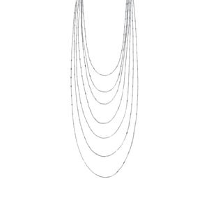 """Collana multifilo in acciaio lucido - Breil Collezione """"Sinuous"""""""