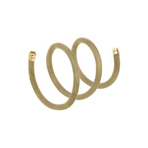 """Collana/Bracciale donna in acciaio lucido ip gold – 50 cm. – Breil Collezione """"New Snake"""""""