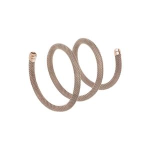 """Collana/Bracciale donna in acciaio lucido ip rose – 50 cm. – Breil Collezione """"New Snake"""""""