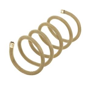 """Collana/Bracciale donna in acciaio lucido ip gold – 80 cm. – Breil Collezione """"New Snake"""""""
