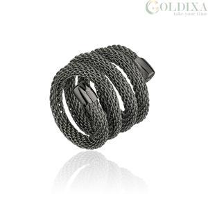 """Anello donna in acciaio ip nero – 20 cm. – Breil Collezione """"New Snake"""""""
