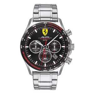 """Orologio crono uomo acciaio con bracciale in acciaio - Scuderia Ferrari Collezione """"Pilota Evo """""""