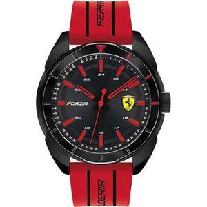 """Orologio solo tempo uomo acciaio con cinturino in gomma - Scuderia Ferrari Collezione """"Forza"""""""