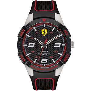 Orologio solo tempo uomo acciaio con cinturino in gomma - Scuderia Ferrari