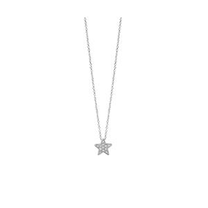 """Collana Stella in oro bianco con diamanti - Salvini Collezione """"I Segni"""""""