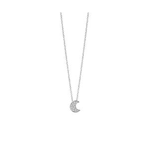 """Collana Luna in oro bianco con diamanti - Salvini Collezione """"I Segni"""""""