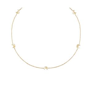 """Collana Lune in oro giallo 9 kt con diamante - Salvini Collezione """"I Segni"""""""