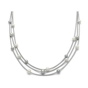 """Collana in argento 925 con perla coltivata - Miluna Collezione """"Miss Italia"""""""