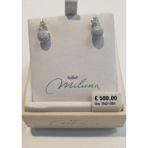 Orecchini oro bianco e diamanti - Miluna