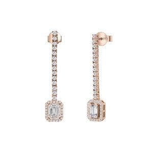 """Orecchini in oro rosa con diamanti - Salvini Collezione """"Magia"""""""