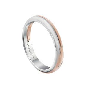 Fede in oro bianco e oro rosa con diamante interno - Salvini Alchimia       a partire da: