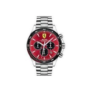 Orologio cronografo uomo acciaio Ferrari collezione 'Pilota'
