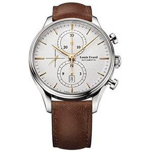 Héritage Classic Collection Mechanical automatic movement Date 6H red / Chronographe Steel case 43mm - Louis Erard