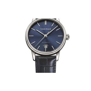 Héritage Classic Collection Mechanical automatic movement 3 hands PNP / Date Steel case 40mm Backcase see through - Louis Erard