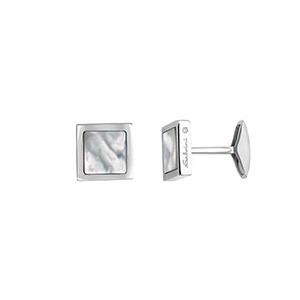 """Gemelli in argento con diamante e madreperla - Salvini Collezione """"Nuvolari"""""""