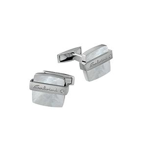 """Gemelli in argento con diamanti e madreperla - Salvini Collezione """"Jazz"""""""